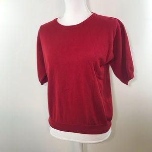 Brooks Brothers Red Cotton Sweater - Medium
